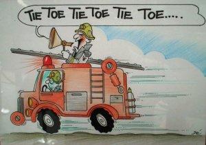 cartoon fire brigade