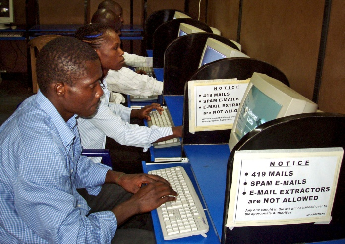 NIGERIAN internet cafe