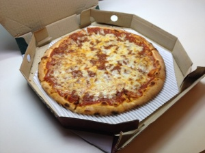 Pizza Bolognese in box