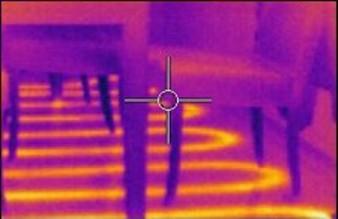 Warmtebeeld vloerverwarming