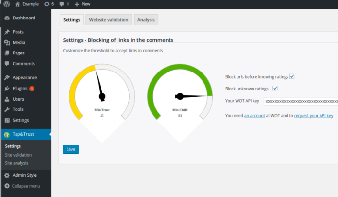 Wordpress Plugin_new_settings_1