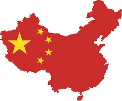 Vlag op landkaart China