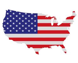 Vlag op USA kaart